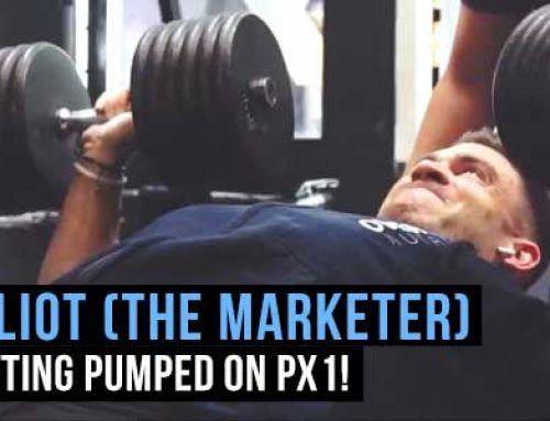 Elliot Wise (The Marketer) Gets A PX1 Chest Pump On!