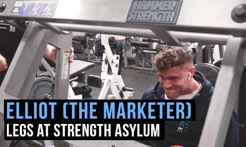 Elliot Wise (The Marketer) – Trains Legs At Strength Asylum